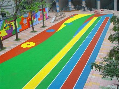 幼儿园epdm地面 彩色颗粒地面塑胶颗粒地面