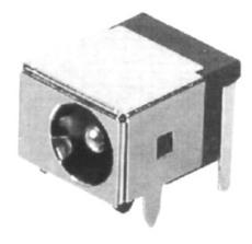 带外壳的dc0044a插座 90度插针 磷铜弹片