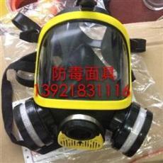江苏全面罩双滤盒防毒面具