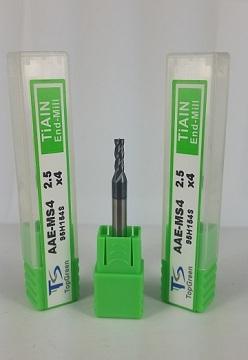 鎧鉅科技 TOPGREEN 2.5mm 四刃鎢鋼銑刀