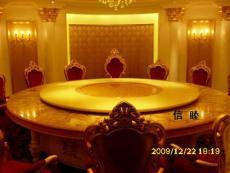 喷泉电动餐桌 仿松香玉