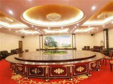 中式实木喷泉电动餐桌