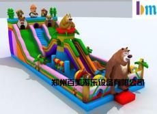 广西北海熊出没攀岩系列充气滑梯/诚信为本