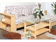 彭翔松木家具-转角沙发