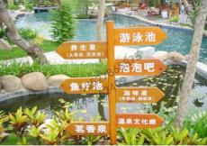 防腐木广告牌 路牌 指示牌 景区导向牌