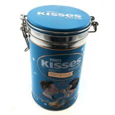 巧克力包装铁罐 马口铁咖啡罐 糖果带扣铁罐