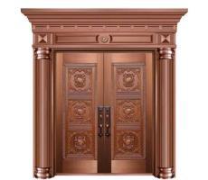 豪华铜门厂家-别墅对开铜门定做-家得福铜门